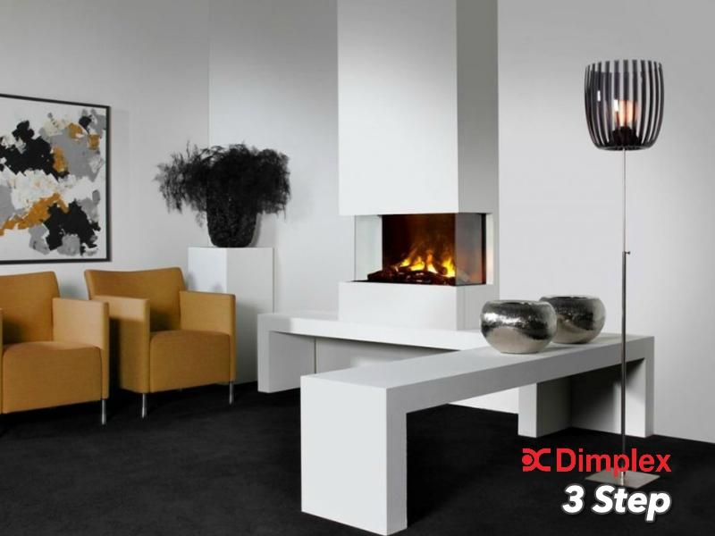 Faber 3step inbouw sfeerhaard met glas met 3D mist functie